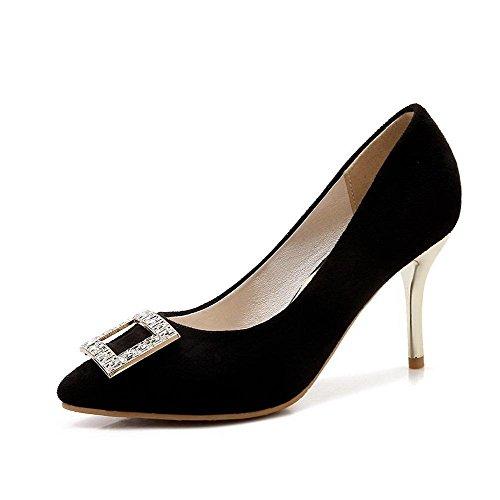 Vedettävä Päälle Toe Solid Musta Allhqfashion Jäljitelty Suljetun Korkokenkiä Pumput Huomautti Naisten Mokka kengät FZxxqHE5w