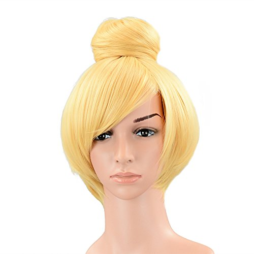 PINKISS Fashion Colorful Harajuku Style Cosplay Wig with Free Wig Cap (SS94 / YELLOW) -