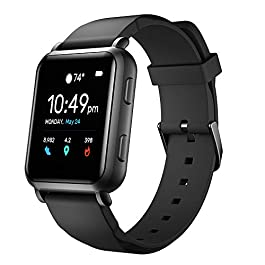 Smart Watches with Connected GPS Fitness Tracker Heart Rate Monitor Step Calorie Counter Sleep Monitor Music Control…
