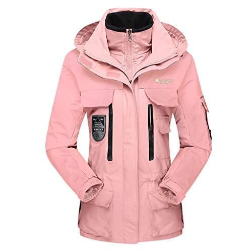 Luca-Coat LUCAMORE Unisex Hooded Waterproof Windbreaker Jacket Detachable Rain Jacket Outdoor Casual Sportswear ()