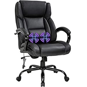 Big and tall desk chair with massage