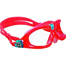 Aqua Sphere Aqua Lung Kid's Seal Obsession Goggles with Clear Lens, Red