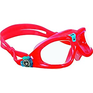 Aqua Sphere Seal Kid Swim Goggle, Clear Lens / Coral