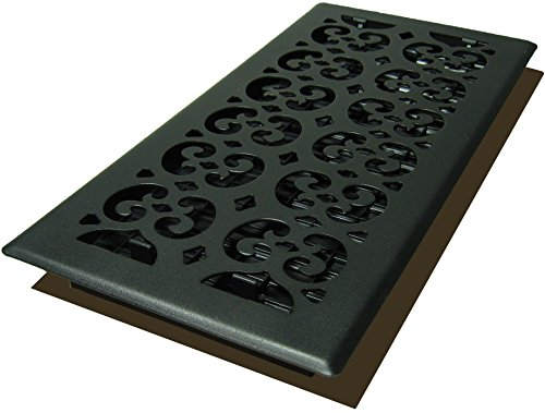 Decor Grates STH614 Scroll Text Floor Register, 6-Inch by 14-Inch, - 6 14