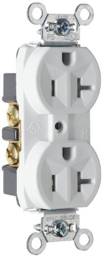 Legrand - Pass & Seymour TR5362WCC12 Receptacle Duplex Tamper Resistant Back and Side Wire 20-Amp/125-volt, ()
