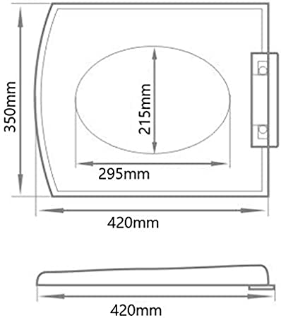 charni/ère /à fermeture douce en forme de D eSituro Abattant WC /à d/égagement rapide avec fixations par le haut et par le bas blanc tr/ès r/ésistante et antibact/érienne