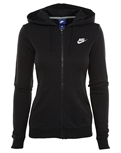 Nike Women's Sportswear Hoodie Black/Black/White Small