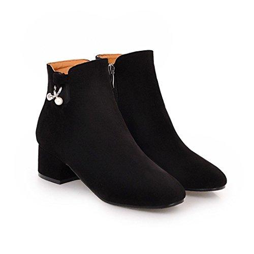 stivali moda stivali stivali grandi grezzi DEDE bassi bassi di black Comfort stivali Sandalette aSTwt8qY