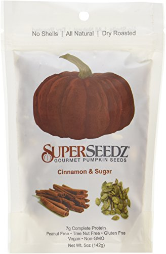 (SuperSeedz Gourmet Roasted Pumpkin Seeds - Cinnamon & Sugar 5 Oz. Bag(Pack of 6))