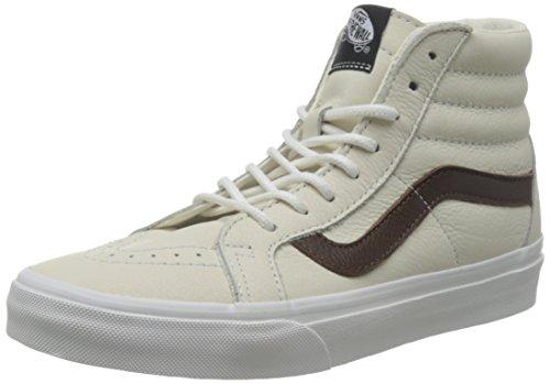 Vans Sk8-Hi Reissue Leather High-Top Leather Skateboarding Shoe (Leather) Blanc De Blanc/Potting Soil MXwIimKGfI