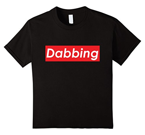 Price comparison product image Kids Dabbing Red Box White Logo T-Shirt - Dab Pen Tool Nails 4 Black