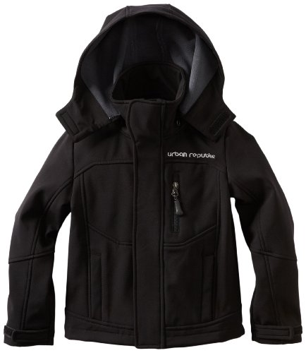 Urban Republic Little Boys' Little Boy Soft Shell Jacket, Black, 4