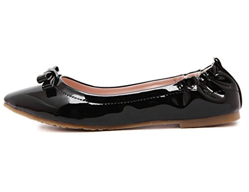 Fortuning's JDS Soft-soled Pointed Cone Casual Super Fashion / Wild peas shoes Black r0MEO6G9Iz