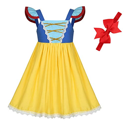 Princess Dresses (Elsa,Snow,Belle,Little Mermaid,Anna,Cinderella,Rapunzel,Aurora) Costumes for Toddler