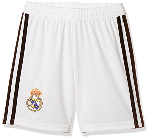 (adidas 2018-2019 Real Madrid Home Shorts (White) - Kids)