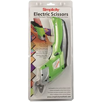 Simplicity Battery Operated Electric Scissors, Lime Green