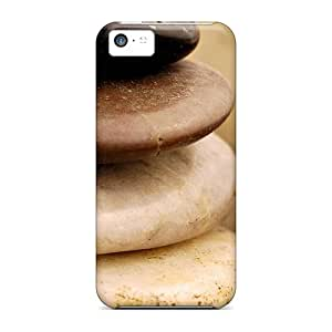 Sanp On Case Cover Protector For Iphone 5c (stones)