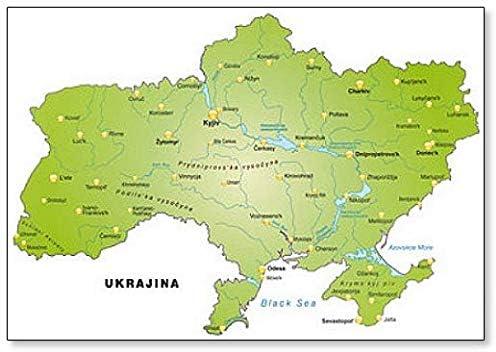 Amazon Com Karte Der Ukraine Classic Fridge Magnet Kitchen