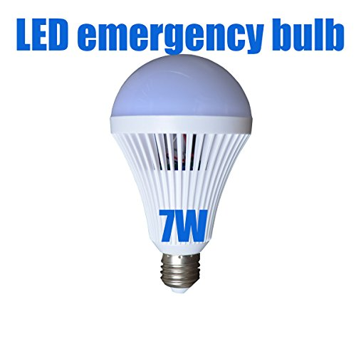 FuLanDe LED LED Light Bulbs 7W Emergency Lamps Household Lighting Bulbs Human Body Induction,Saving Energy Intelligent Light Rechargable Electricity 70W Equivalent 6500k White Bulb120V E26/E27 (7) (Flanders Industries)