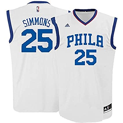 best service 30c69 4ff0a Amazon.com : Ben Simmons Philadelphia 76ers #25 NBA Youth ...