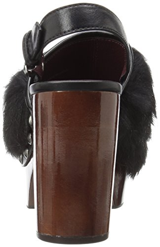 Marc Jacobs Womens Liya Fur Clog Mule Black
