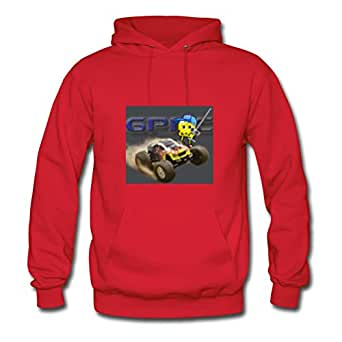 Women Gprc Smiley Image Hoodies Red Style Personality Shirts With X-large