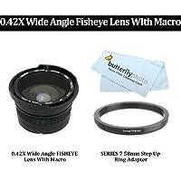0.42X Wide Angle FISHEYE Lens WIth Macro For 0.42X Wide Angle FISHEYE Lens WIth Macro For Nikon Coolpix P80