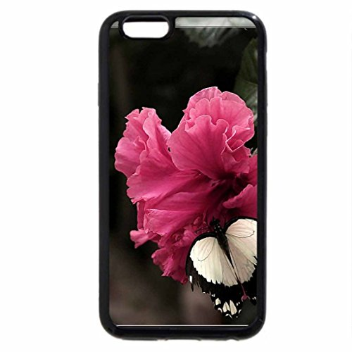 iPhone 6S / iPhone 6 Case (Black) Butterfly on Flower