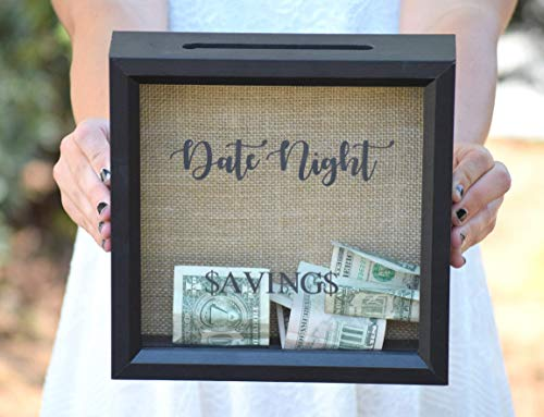 Date Night - Date Night Savings - Piggy Bank - Date Night Jar - Personalized Gift - Shower Gift - Date Night Ideas - Date Night Jar - Picture Frame - Shadow Box from Country Barn Babe