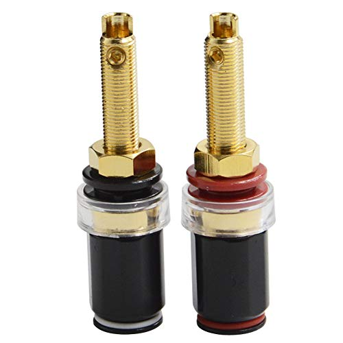 BEKER Banana Plug Socket Connector Speaker Binding Post Audiophile Gold Plated Pure Copper Amplifier Speaker Terminal Connector Banana Jack Sound Audio Connector Adapter Audio Video Cable ()