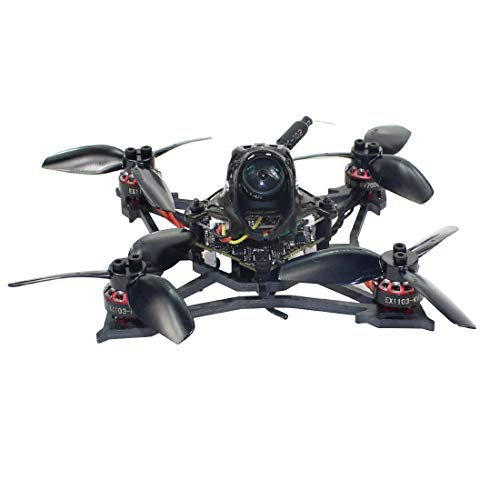 Happymodel Larva X 2-3S 2.5inch Brushless FPV Racing Drone 100mm Wheelbase Crazybee F4 PRO V3.0 AIO Flight Controller Camera Angle Adjustable 25mw~200mw VTX (Built-in Frsky D8 SPI Receiver)