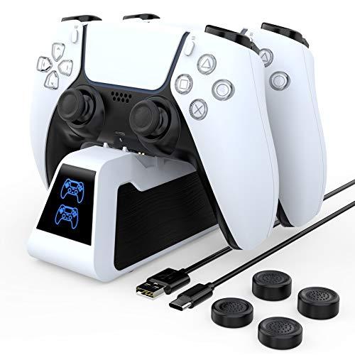 HEYSTOP Laadstation Compatibel met PS5 Controller, Dualsense-Oplaadstation voor PlayStation 5-Controller, kan Worden…