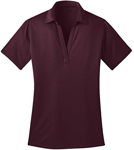 Joe's USA(tm) Silk Touch Golf Polo Shirt, XL-Maroon