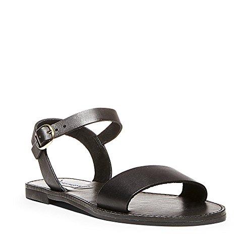 Steve Madden Women's Donddi Dress Sandal, Black Leather, 7 M US -