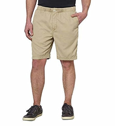 Kirkland Signature Mens Ribbed Tencel Shorts (Beige, Medium) (Cotton Short Tencel)