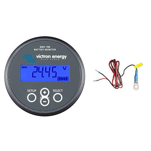 (Victron BMV-702 Battery Monitor (Gray Bezel) Bundle with Meter & Temperature Sensor ASS000100000)
