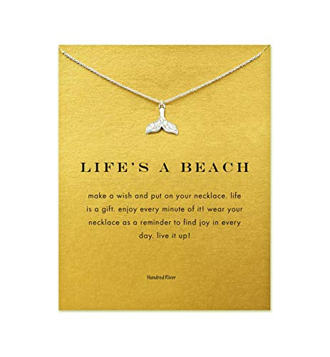 Hundred River Friendship Mermaid Tail Necklace with Message Card Gift Card (mermaid tail s)