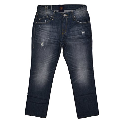 Regular Fit Straight Leg Jeans (Destructed, 32 x 32) (Rock Republic Men Jeans)