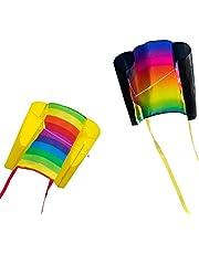 CIM Eenlijnse vlieger - Beach Kite - Eenlijnse vlieger voor kinderen vanaf 6 jaar - afmetingen: 70x47cm - incl. 40m vliegerkoord en stripstaarten ...