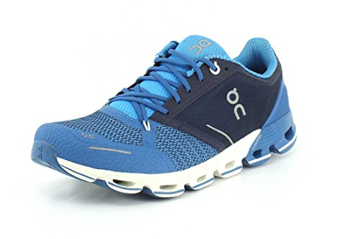 On Running Mens Cloudflyer Mesh Trainers Blue White