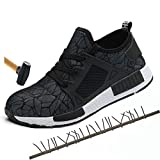 Safety Shoes Casual Protection Footwear Spring Breathable Mesh Steel Toe Casual Shoes Mens Labor Insurance Puncture Proof Shoes