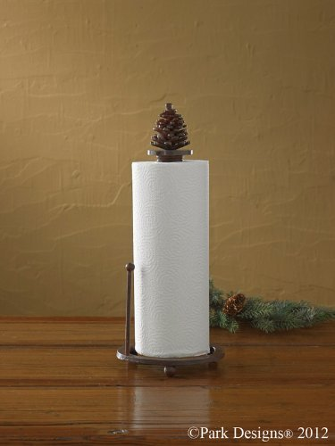 Park Designs Pinecone Paper Towel Holder