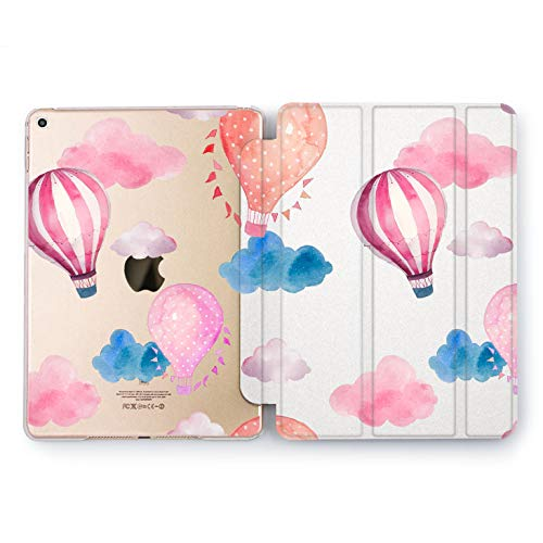 Wonder Wild Floating Balloon Apple iPad Pro Case 9.7 11 inch Mini 1 2 3 4 Air 2 10.5 12.9 2018 2017 Design 5th 6th Gen Clear Smart Hard Cover Girly Cute Clouds Flying Parade Trip Adventure Gentle ()