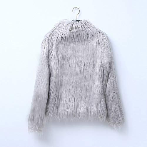 Coat Cappotto Outwear Moda Elecenty Colore Invernale Eleganti Autunno Donna Pelliccia Giacca Grigio Puro Jacket Casual Sintetica Giubbotto Lungo wCCaR6qzxW