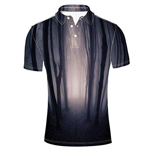 iPrint Jade Dragon Mountain Atmosphere on Summit Asian Polo T-Shirts