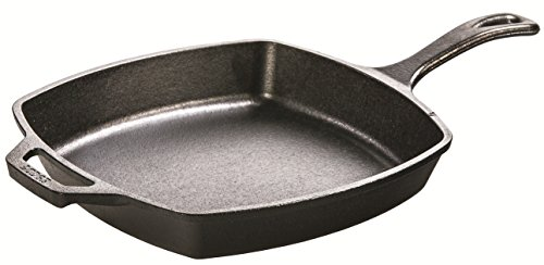 (Lodge L8SQ3 Cast Iron Square Skillet, 10.5 inch)