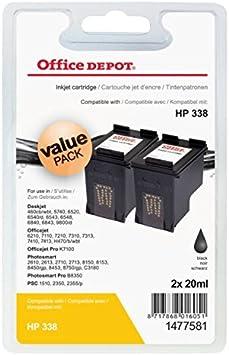 Compatible HP C8765E paquete doble negro 338 cartucho de tinta NO: Amazon.es: Oficina y papelería