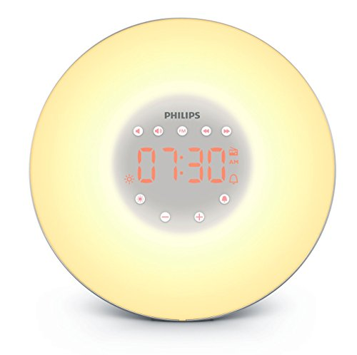 Philips  Wake-Up Light with Sunrise Simulation and Radio, Silver, HF3606