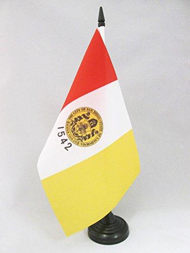 flaggen SAN Diego TISCHFAHNE 14 x 21 cm AZ FLAG TISCHFLAGGE SAN Diego 21x14cm