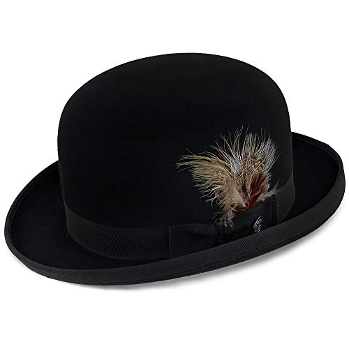 - Stetson Men's Derby Royal Deluxe Fur Felt Hat, Black, 7.375